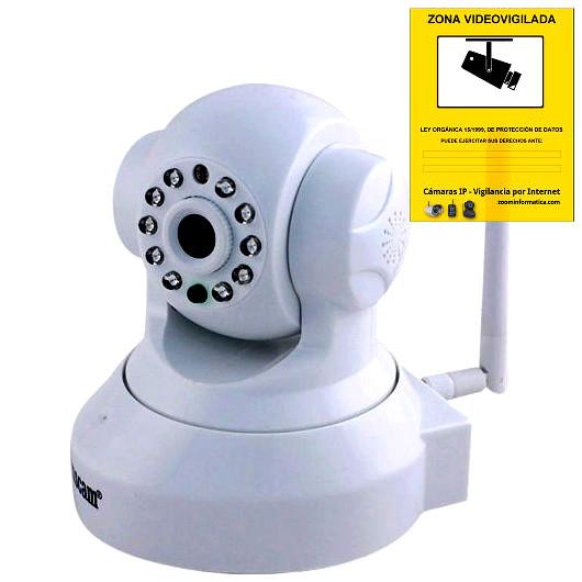 Wanscam JW0012 Camara IP Blanca WiFi P2P vigilancia desde movil
