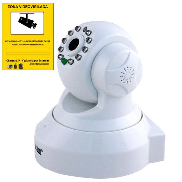 Wanscam HW0024 Camara IP WiFi interior color blanca Alta resolucion HD Con ranura memoria grabacion