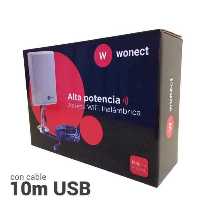 Wonect N4000A Antena Exterior WiFi USB 10 metros largo alcance