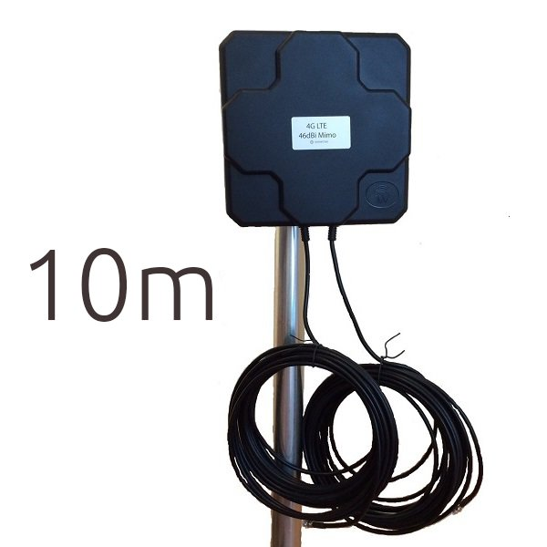 WONECT 4G 46DBI FME Antena 4G 46dbi LTE UMTS 3G exterior con conector FME multibanda cable 10 metros
