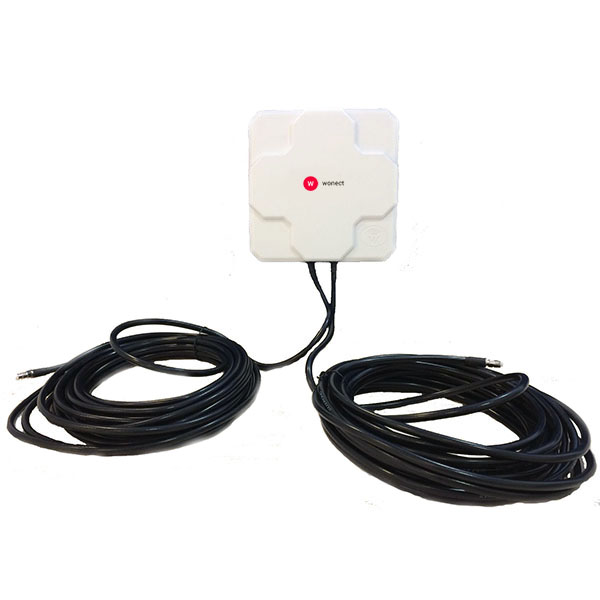 WONECT 4G 46DBI FME BLANCA Antena 4G 46dbi blanca LTE UMTS 3G exterior con conector FME multibanda cable 10 metros