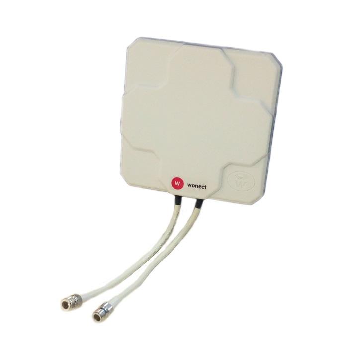 Antena 4G Wonect Panel 46dBi Direccional Blanca Conector N