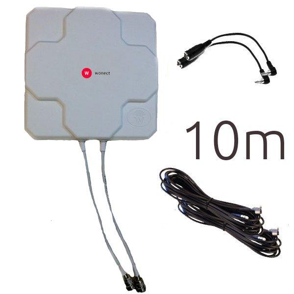 Antenas 4G Wonect 4G 46dBi N 10m CRC9 B