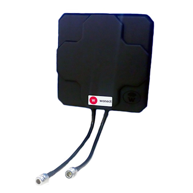 Antena 4G Wonect Panel 46dBi Direccional Negra Conector N