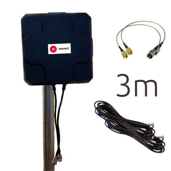 Antenas 4G Wonect 4G 46dBi N 3m SMA