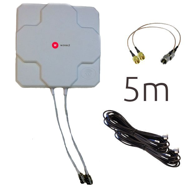 WONECT 4G 46DBI N R 5M SMA BLANCA Outlet Antenas 4G Outlet