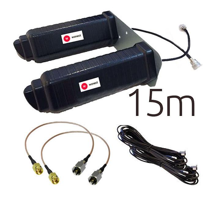 Antenas 4G Wonect Yagi 4G 46dbi negra SMA 15