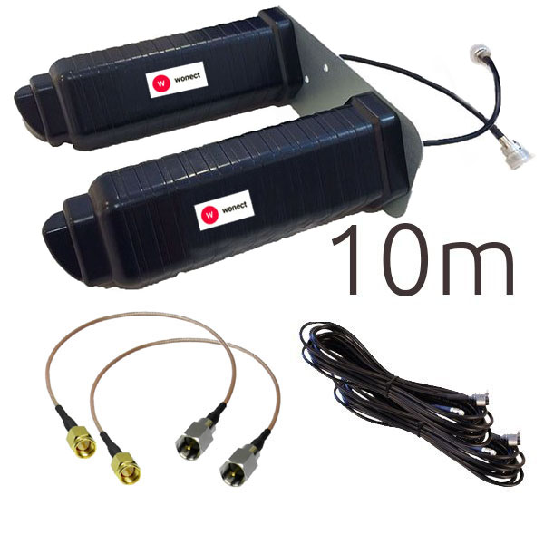 Antenas 4G Wonect Yagi 4G 46dbi negra SMA 10