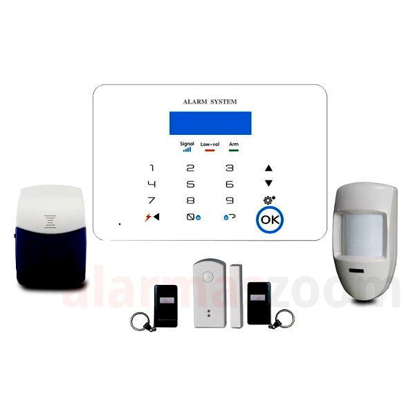Alarmas-zoom K5 K5 alarmas-zoom Kit De Alarma Inalambrica GSM SMS Seguridad Casa/Oficina/Tienda Control Remoto N