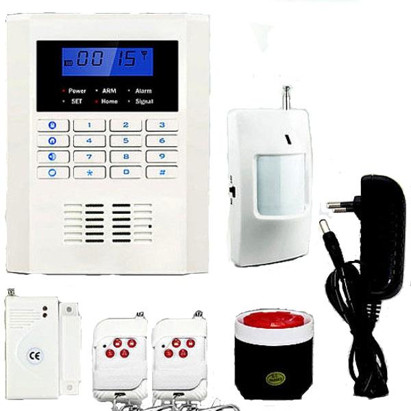 Alarma Hogar AZ015 GSM y Linea telefono fija anti intrusion