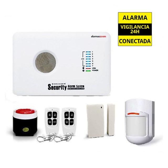 AZ018 G10C O AZ018 G10C O alarmas-zoom ALARMA CASA HOGAR NEGOCIO GSM INALAMBRICA MOVIL VOCES CASTELLANO ANTENA OCULTA
