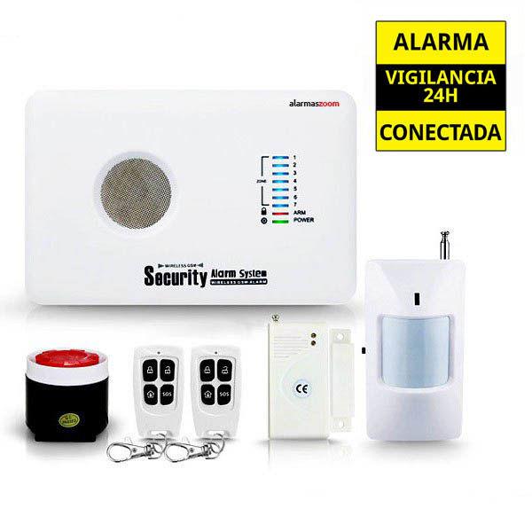 alarmas-zoom AZ018 G10C ALARMA CASA HOGAR NEGOCIO GSM INALAMBRICA MOVIL VOCES CASTELLANO