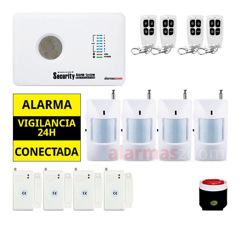 Kit alarma sin cuotas para casa 4 Sensores de movimiento AZ018 1
