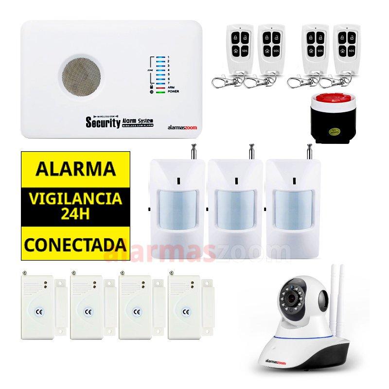 alarmas-zoom AZ018 G10C 2 ALARMA CASA HOGAR CON CAMARA IP