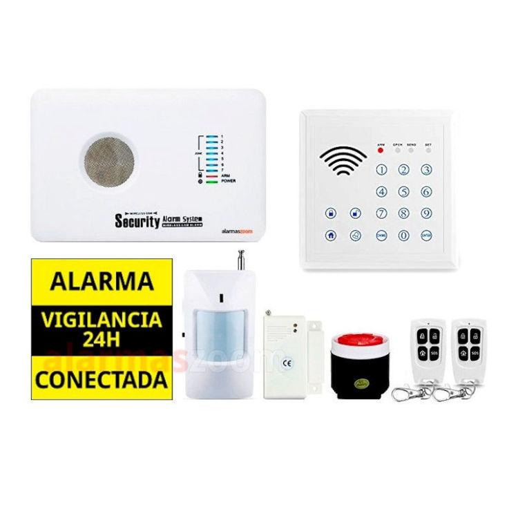 alarmas-zoom AZ018 G10C 3 ALARMA CASA HOGAR NEGOCIO GSM BARATA CON CONTROL DE ACCESOS