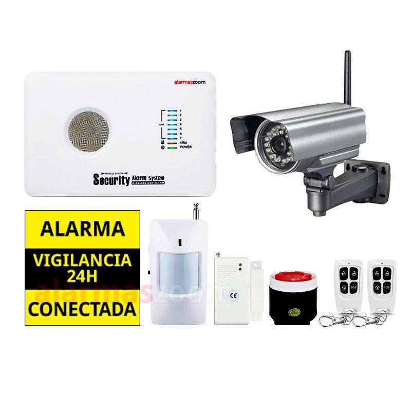 Kit alarma sin cuotas para casa AZ018 Camara de seguridad exterior fija NeoCoolCam