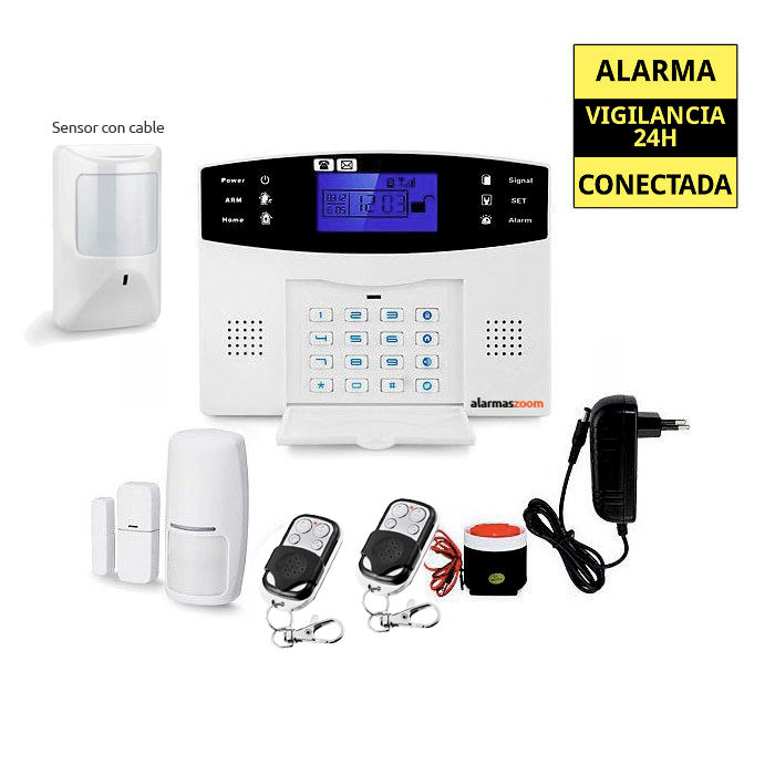 Alarma hogar para mas seguridad Sensor interior con cable AZ017 27