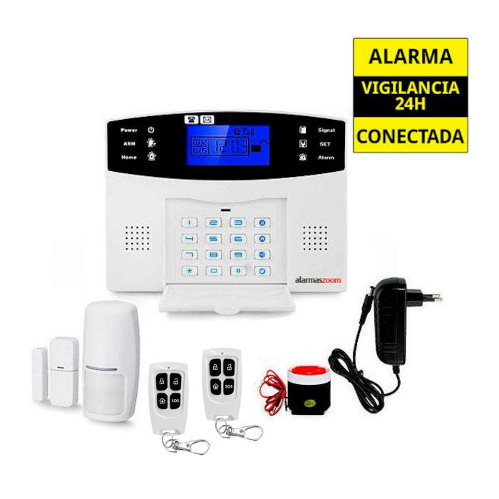 Alarmas-zoom AZ017 AZ017 alarmas-zoom Alarma Hogar con voces en Espanol Castellano GSM y Teclado alarmas-zoom az017