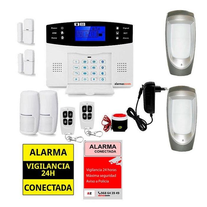 Sistema de alarma para casa con sensores exteriores AZ017 34