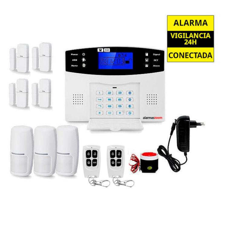 Alarma hogar para mas seguridad 4 Detectores apertura 3 Sensores movimiento AZ017 23