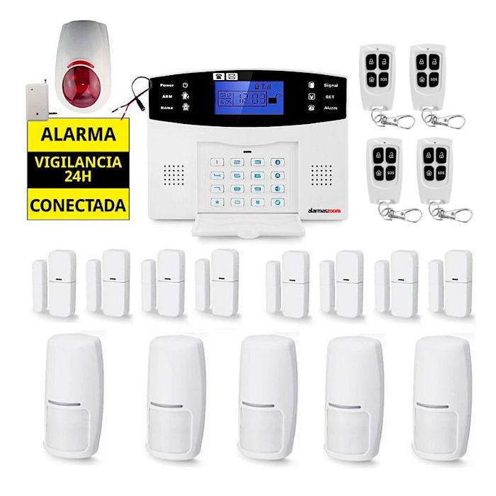 Sistema de alarma para casa 8 Detectores puertas 5 Sensores movimiento AZ017 18