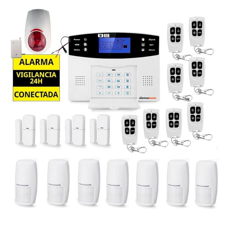 Sistema de alarma para casa 7 Detectores movimiento 8 Mandos distancia AZ017 19