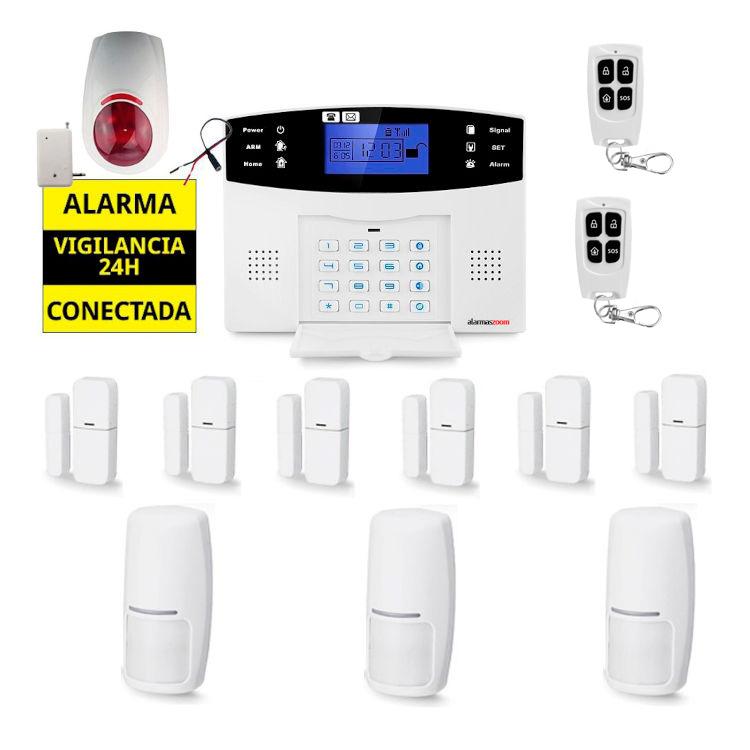 Sistema de alarma para casa Sirena inalambrica AZ017 16