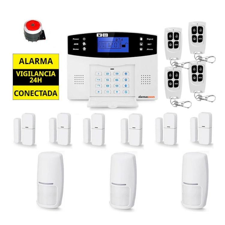 Kit Alarma hogar para mas seguridad 6 Sensores apertura puertas 4 Mandos distancia AZ017 2