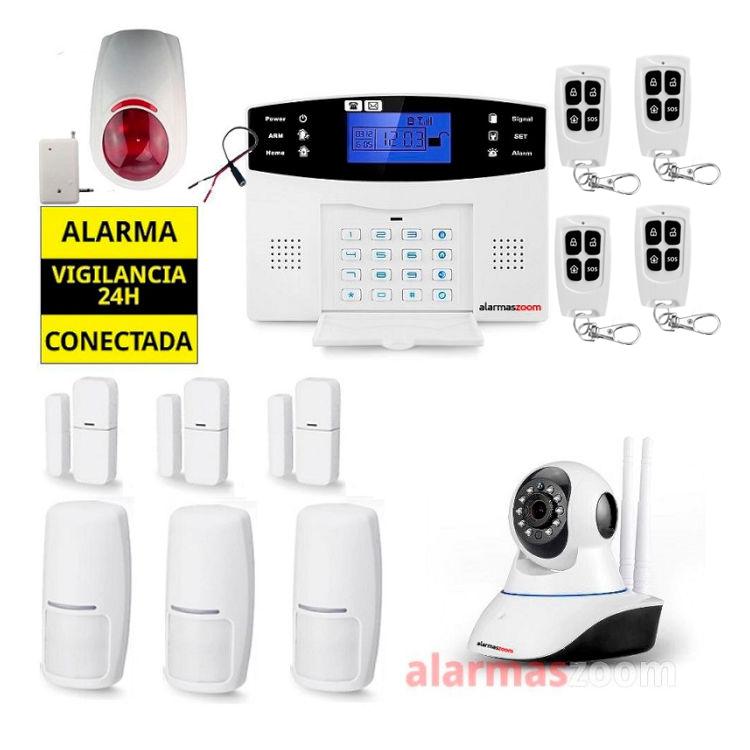 Kit Alarma hogar para mas seguridad Sirena exterior Camara vigilancia interior AZ017 17