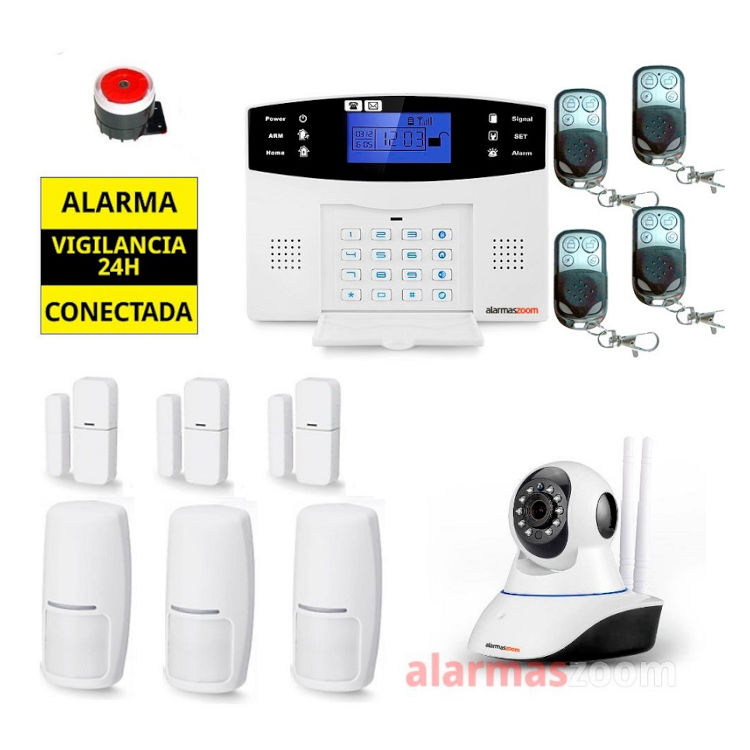 Kit Alarma hogar para mas seguridad Camara de vigilancia AZ017 3