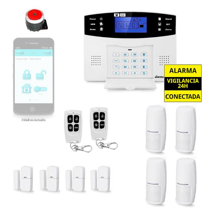 Sistema de alarma para casa 4 Sensores de movimiento y apertura AZ017 32