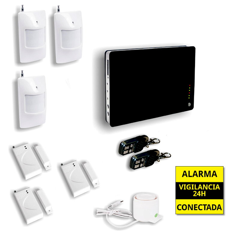 Alarma Hogar GSM Seguridad para casas 3 Detectores de movimiento AZ008 1