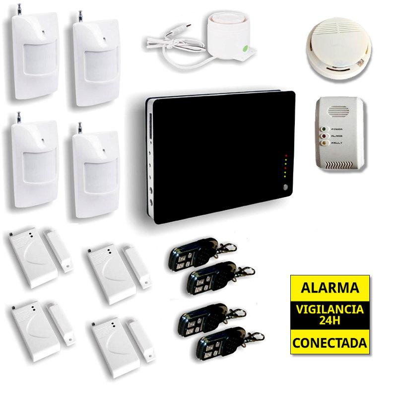 Alarma Hogar GSM Seguridad para casas 4 Detectores de movimiento Sensor Gas AZ008 2