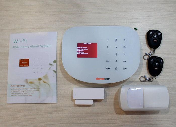 AZ020 AZ020 alarmas-zoom ALARMA Seguridad APP WIFI IP GSM GPRS configuracion espanol envio WIFIS2W