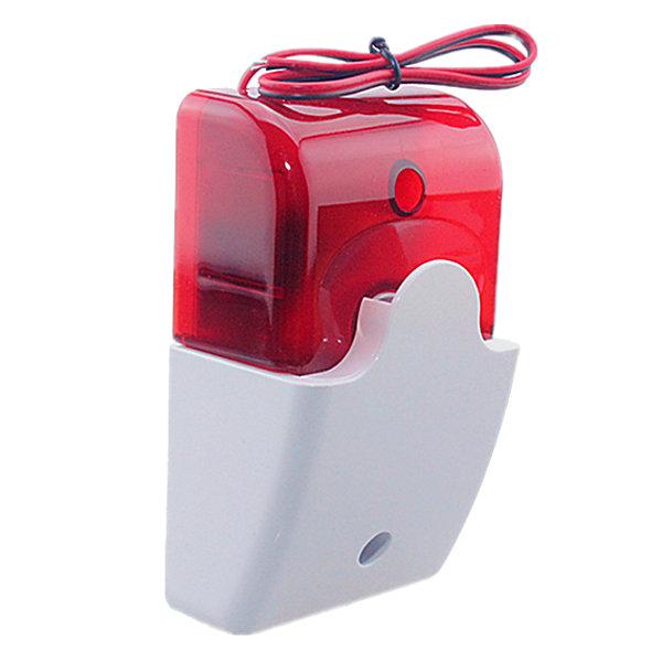 Sirena alarma con cable 12vdc Color rojo Sonido Luminosa Alta potencia FS102