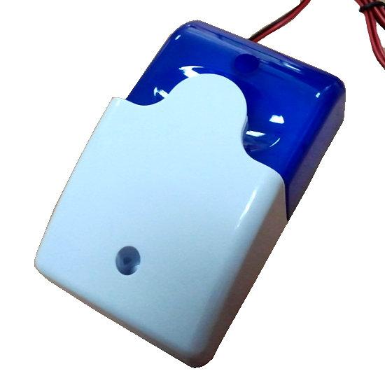 Sirena Exterior Luz Azul Estroboscopio Alarma FS102 B