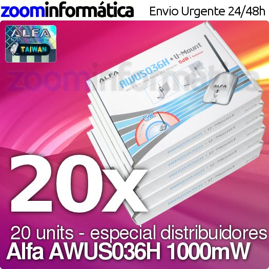 PACK DISTRIBUIDORES ALFA NETWORK AWUS036H PACK 20 UDS