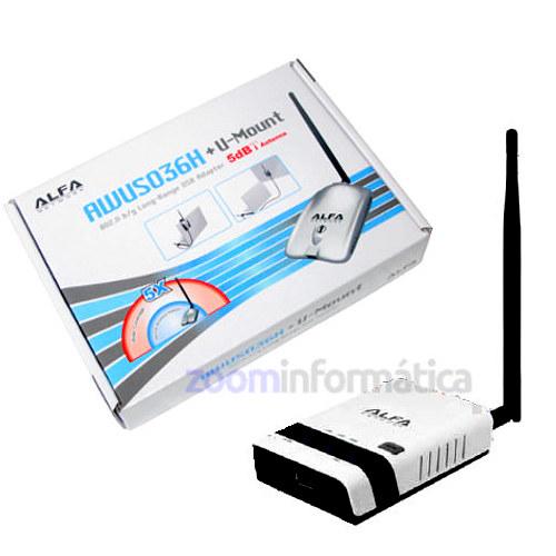 ALFA R36 repetidor WiFi con Antena USB AWUS036H