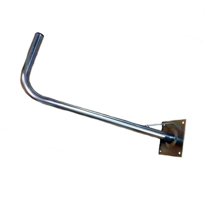 Soporte mastil antena sobresale
