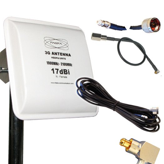 ANTENA 3G OTROS PANEL 17DBI 10M OPTION