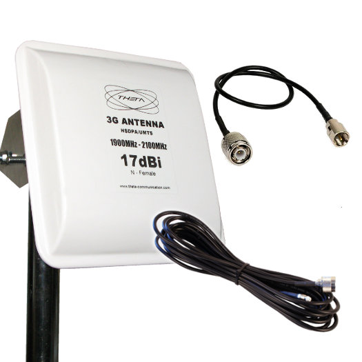 OTROS PANEL 3G TNC 5M ANTENA HSDPA 3G CON 5M PANEL 17DBI 17DB EXTERIOR PLANAR 5MTS CONECTOR TNC 5 ONDA