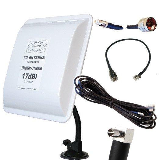 OTROS PANEL 3G V 3M TS9 ANTENA panel 17DB 17DBI 3G UMTS 3m TS9