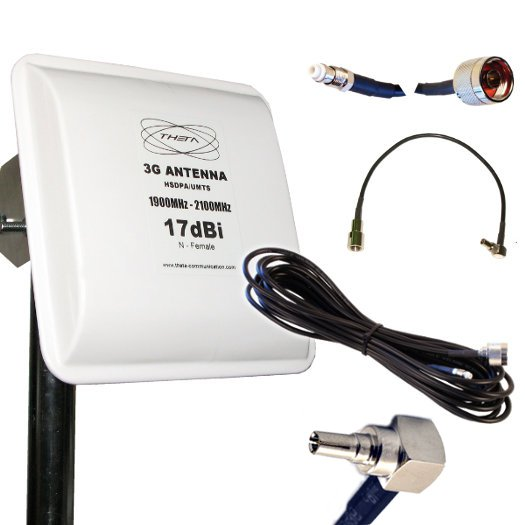 ANTENA 3G OTROS PANEL 17DBI 3M CRC9