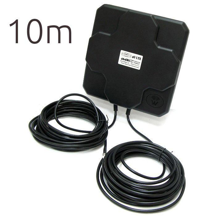 Theta 4G 46DBI 4G 46dBi THETA Antena 4G 46dbi LTE UMTS 3G exterior con conector FME multibanda cable 10 metros
