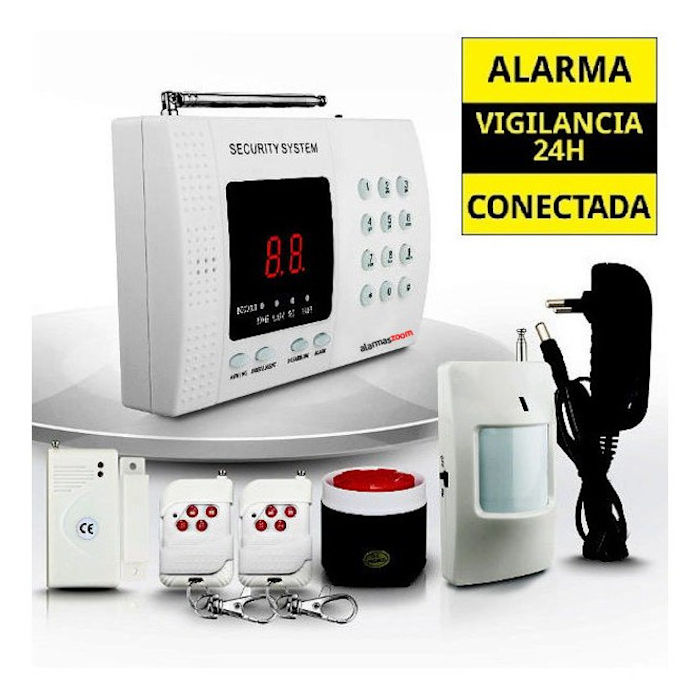 alarmas-zoom AZ011  TEL99E ALARMA CASA HOGAR GARAJE OFICINA TIENDA DE CABLES BARATA LINEA FIJA ANALOGICA