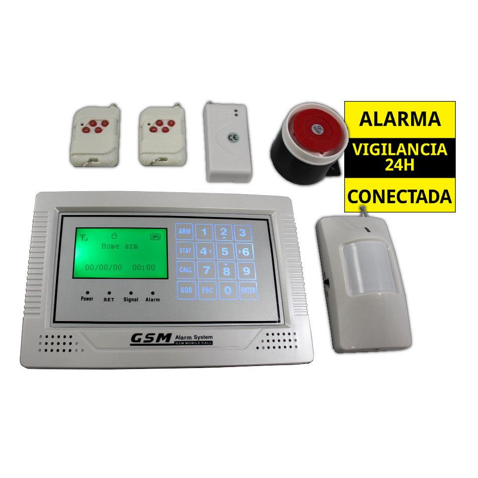 ALARMAS-ZOOM AZ014 GA104TCQ ALARMA GSM INALAMBRICA SEGURIDAD PARA HOGAR CASA TACTIL LCD SENSOR INALAMBRICO