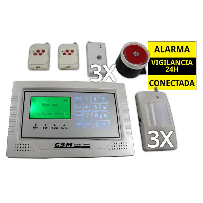 Alarma Hogar Central GSM 3 Sensores movimiento y apertura puertas Kit AZ014 1