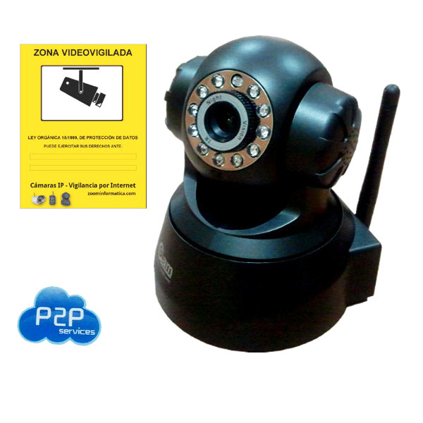 NeoCoolCam NIP 02 Negra Camara IP WiFi Interior Motorizada Reacondicionada