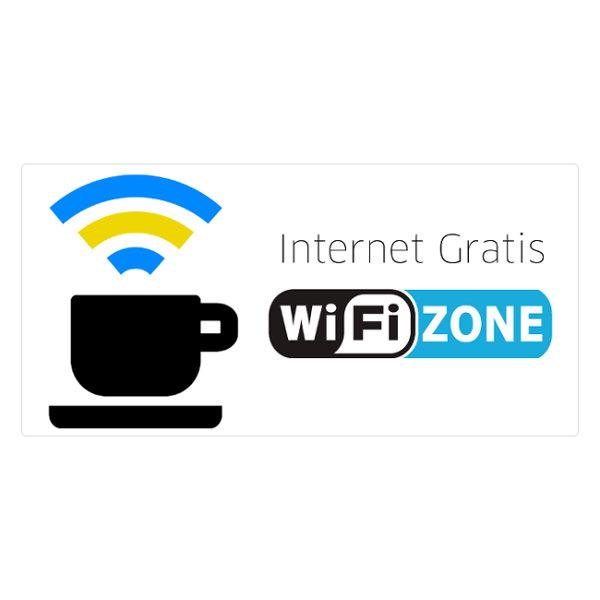 OTROS CARTEL ZONA WIFI CARTEL PEGATINA DE ADHESIVO ZONA WIFI INTERNET GRATIS WIFIZONE ZONE WIRELESS