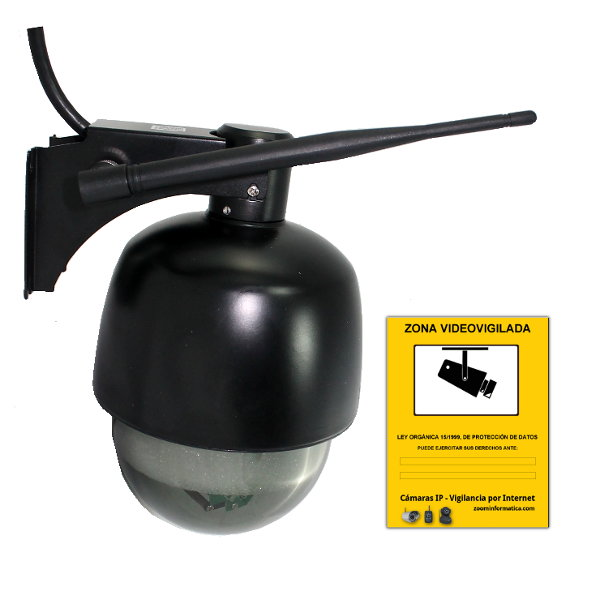 Apexis APM J901 Z WS B Camara IP WiFi Motorizada exterior Zoom optico 3x Negra